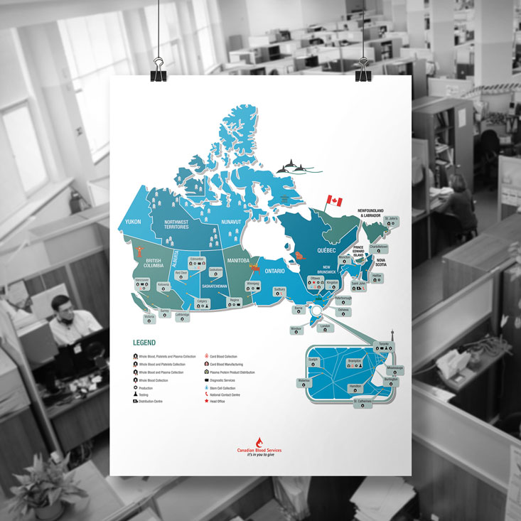 preview image for Canadian Blood Services Map of Operations